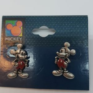 Disney Mickey Mouse antique silver Plated earrings